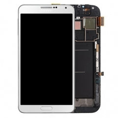 Samsung Galaxy Note 3 LCD Digitizer Assembly White Super AMOLED Display ( N900A AT&T , N900T Tmobile).