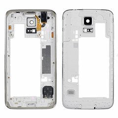 Samsung Galaxy S5 Silver Rear Housing Middle Frame Bezel Backplate