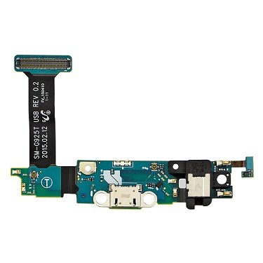 Samsung Galaxy S6 Edge SM-G925T (T-Mobile) Charging Port Flex Cable Ribbon with Earphone Jack