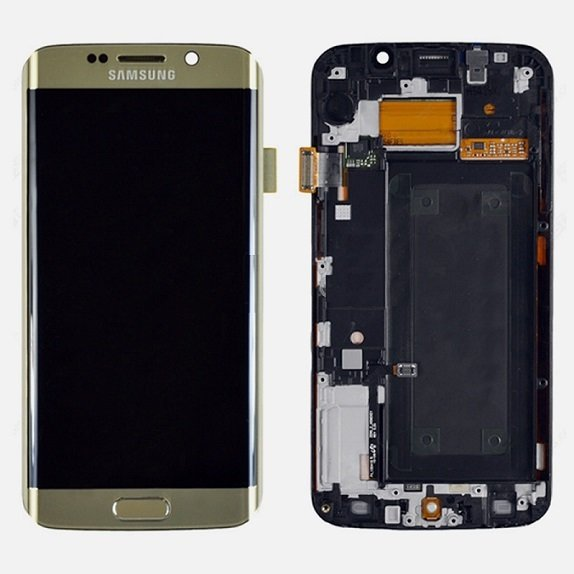 Samsung s6 Edge Gold Full LCD Display Screen with Frame