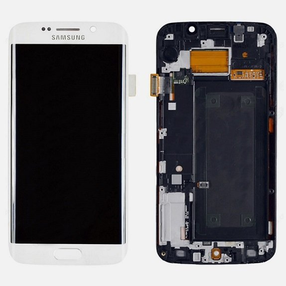Samsung s6 Edge White Full LCD Display Screen with Frame