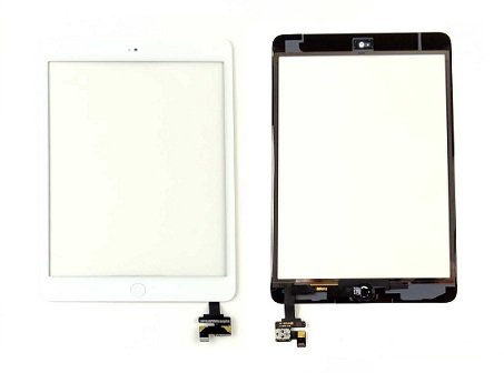 iPad Mini 1st- 2nd Generation Glass Digitizer Replacement and Home Button - White