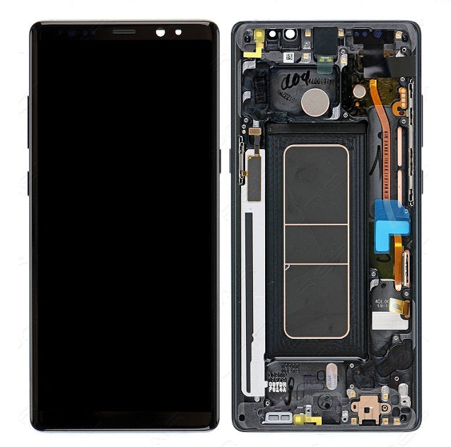 Samsung Galaxy Note 8 Lcd Assembly With Frame (Oem Pulls / Grade C )