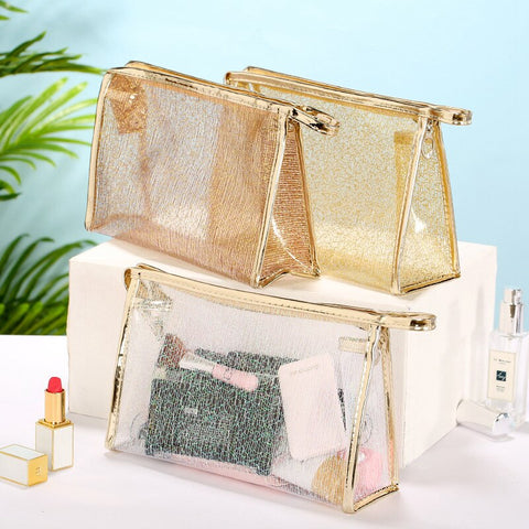 Gold Wire Make Up Pouch