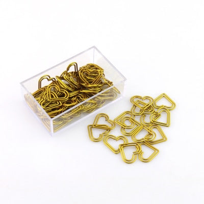 Gold Decorative Paper Clips (50 Clips)