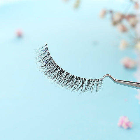 False eyelashes, Natural like your real lashes. Transparent strip, human hair, gorgeous, and long lasting criss cross lashes.