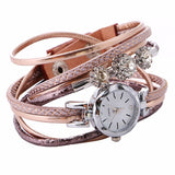 Allegra- Rhinestone Leather Bracelet Watch