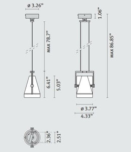 Suspended Architectural Light Fixture 1x35W Quartz Halide GU5.3 MR16 IP20