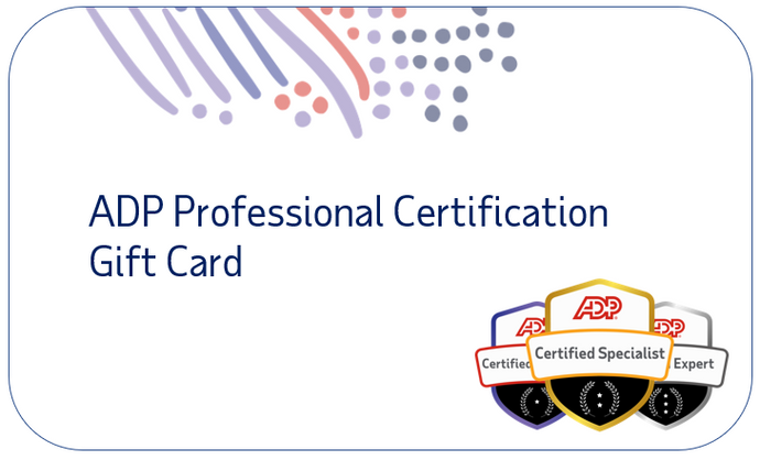 ADP Professional Certification Gift Card