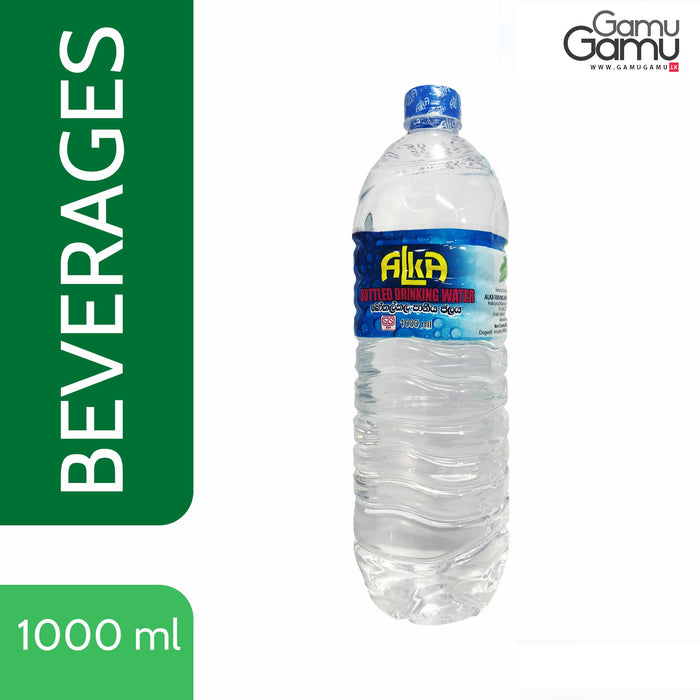 Bottled Drinking Water | 1000 ml,Foods, Alka - gamugamu.lk