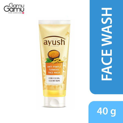 Ayush Anti Pimple Turmeric Face Wash | 40 g,Personal Care - GamuGamu.lk
