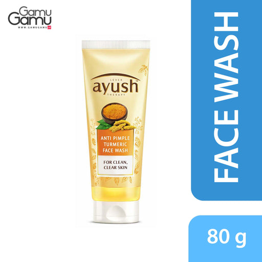 Ayush Anti Pimple Turmeric Face Wash | 80 g,Personal Care - GamuGamu.lk
