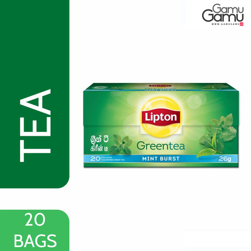 Lipton Green Tea Mint Burst | 20 Bags,Foods - GamuGamu.lk