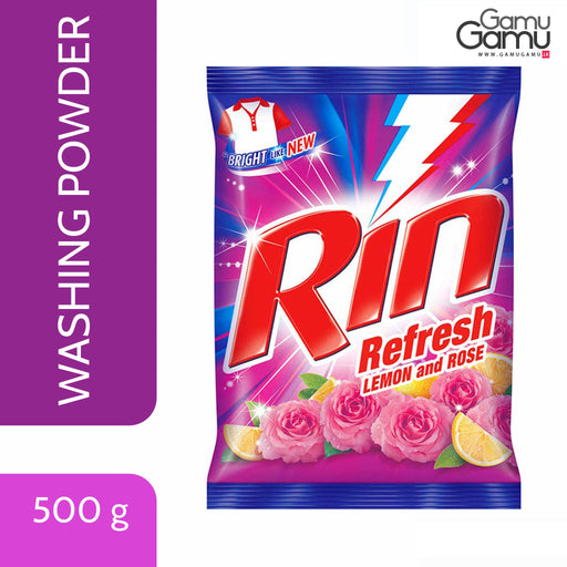 Rin Refresh Washing Powder with Lemon & Rose | 500 g,Home Care - GamuGamu.lk