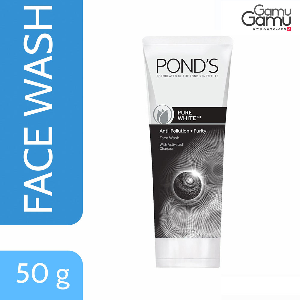 Pond's Pure White Anti Pollution with Activated Charcoal Face Wash | 100 g,Personal Care - GamuGamu.lk