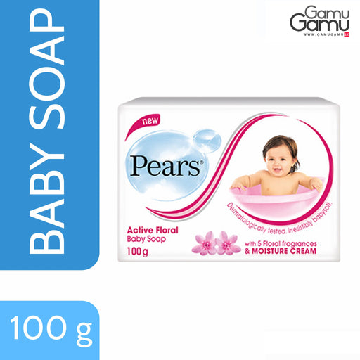 Pears Active Floral Baby Soap | 2 x 100 g,Personal Care, Unilever - gamugamu.lk