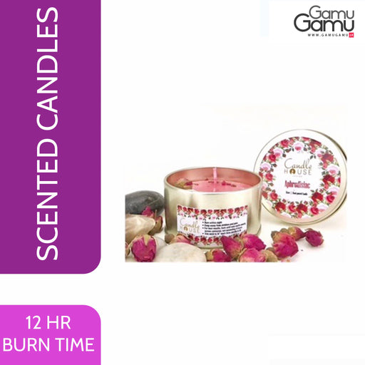 Enchanteur Rose & Patchouli Tin Candle | 12 Hours,Home Care - GamuGamu.lk