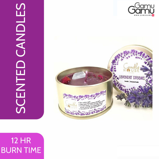 Enchanteur Lavender Dreams Tin Candle | 12 Hours,Home Care - GamuGamu.lk