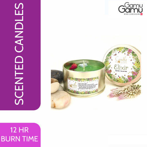 Enchanteur Elixir / Lemongrass Tin Candle | 12 Hours,Home Care - GamuGamu.lk
