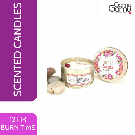 Enchanteur Sangria / Mixed Berry Tin Candle | 12 Hours,Home Care - GamuGamu.lk