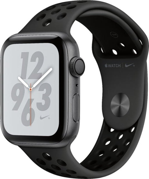 Apple - Apple Watch Nike+ Series 4 (GPS + Cellular) 44mm Space Gray Aluminum Case with Anthracite/Black Nike Sport Band - Space Gray Aluminum,[product_type] - GamuGamu.lk