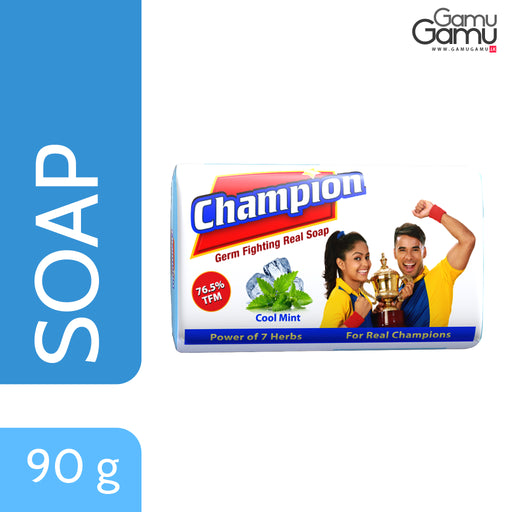 Champion Cool Mint Germ Fighting Soap | 90 g,Personal Care, Nature's Secrets - gamugamu.lk