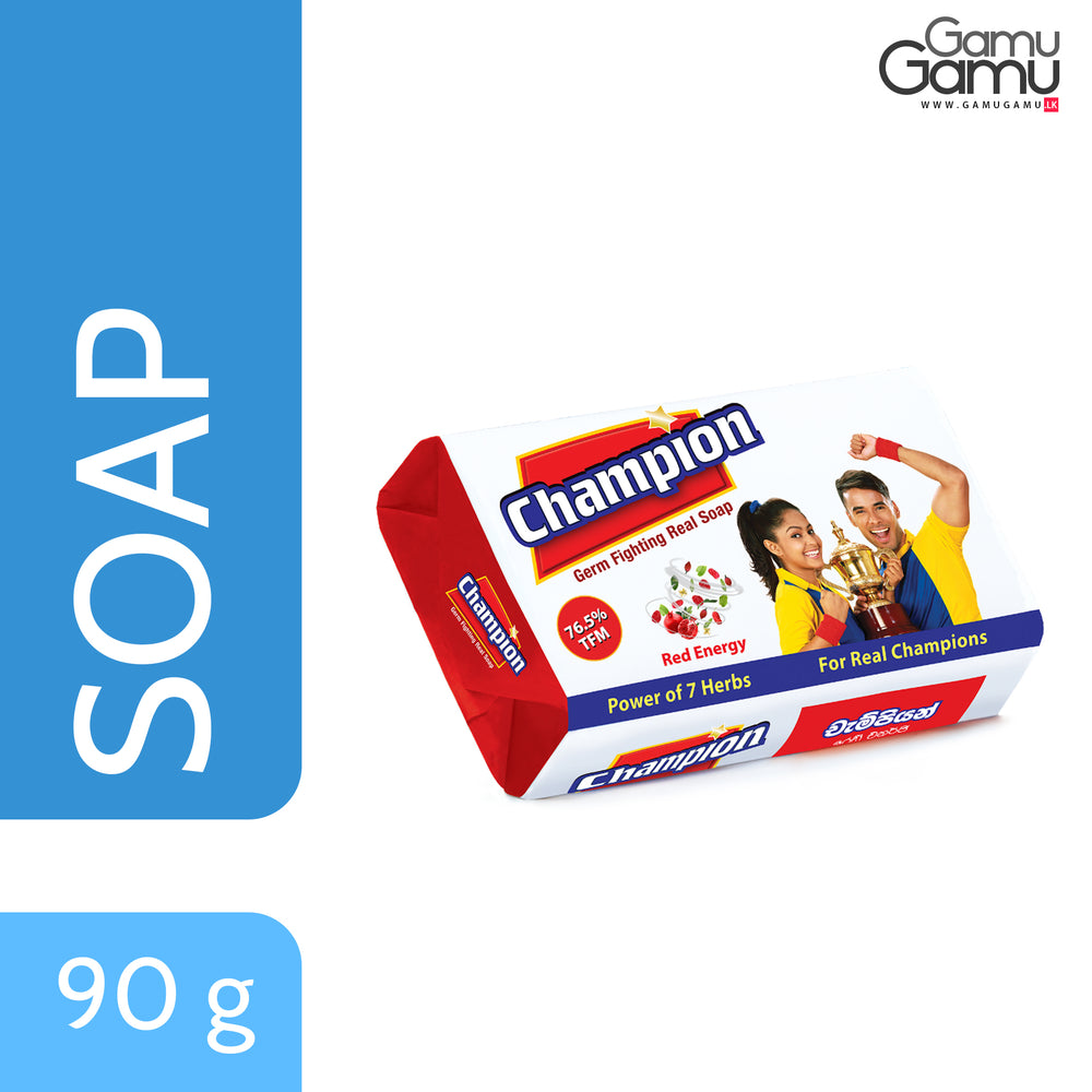 Champion Red Energy Germ Fighting Soap | 90 g,Personal Care, Nature's Secrets - gamugamu.lk
