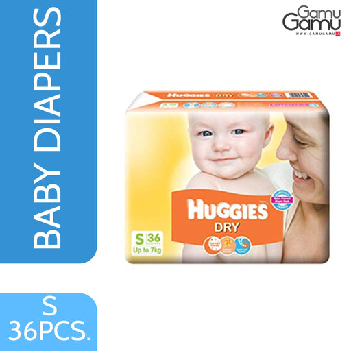 Huggies Dry Baby Diaper - Small | 36 Diapers,Toys, Kids & Baby, Unilever International - gamugamu.lk