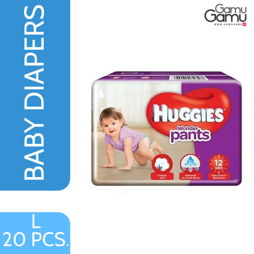 Huggies Wonder Pants - Large | 20 Diapers,Toys, Kids & Baby, Unilever International - gamugamu.lk