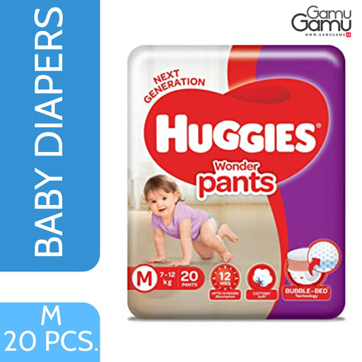 Huggies Wonder Pants - Medium | 20 Diapers,Toys, Kids & Baby, Unilever International - gamugamu.lk