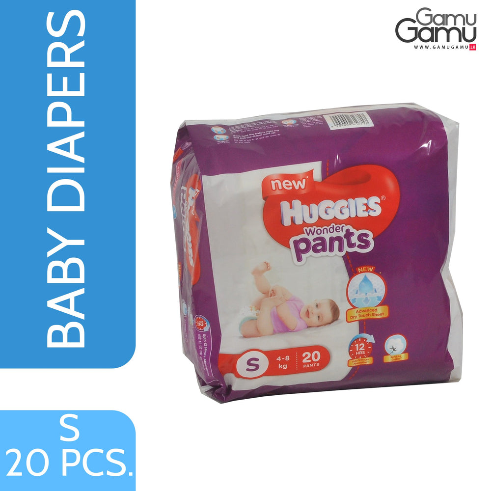 Huggies Wonder Pants - Small | 20 Diapers,Toys, Kids & Baby, Unilever International - gamugamu.lk