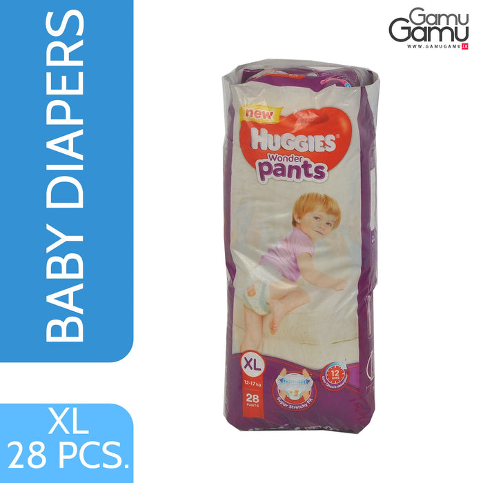 Huggies Wonder Pants - XL | 28 Diapers,Toys, Kids & Baby, Unilever International - gamugamu.lk