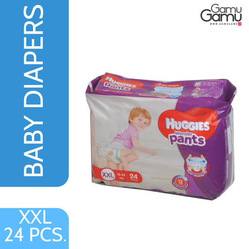 Huggies Wonder Pants - XXL | 24 Diapers,Toys, Kids & Baby, Unilever International - gamugamu.lk