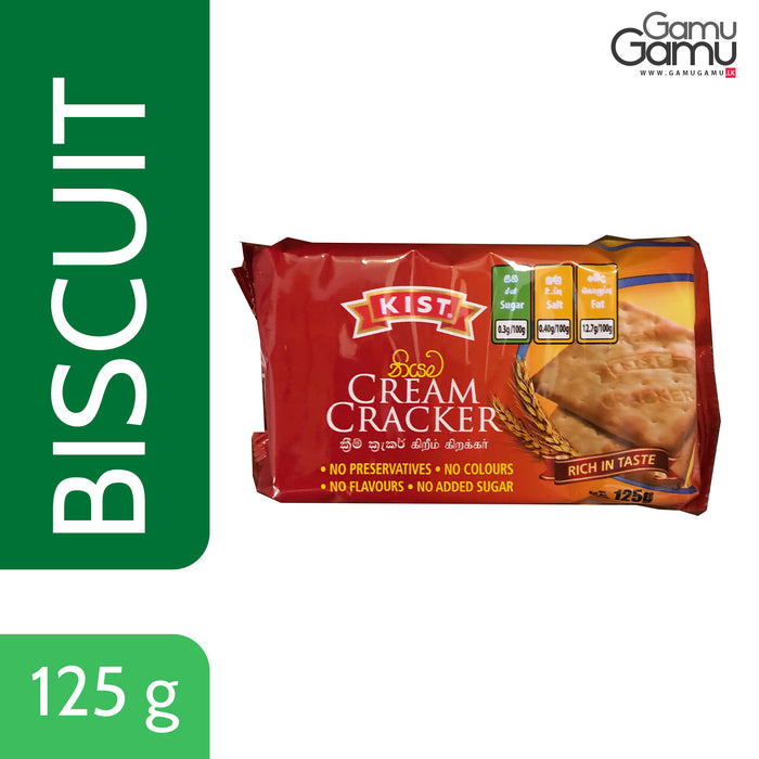 Kist Cream Cracker | 125 g,Foods, Kist - gamugamu.lk