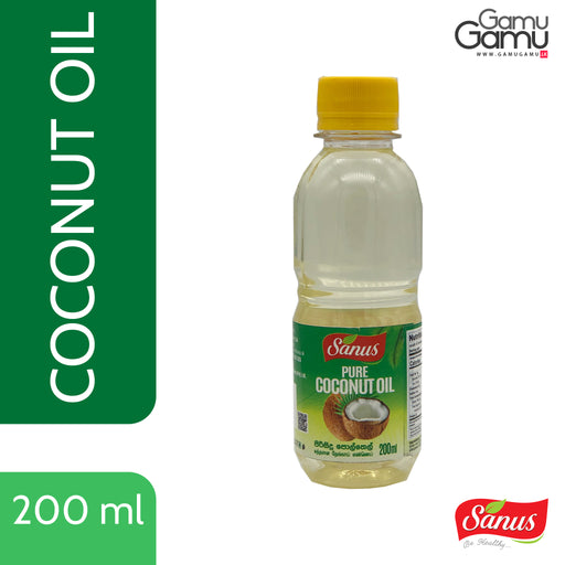 Sanus Pure Coconut Oil | 200 ml,Foods, Sanus - gamugamu.lk