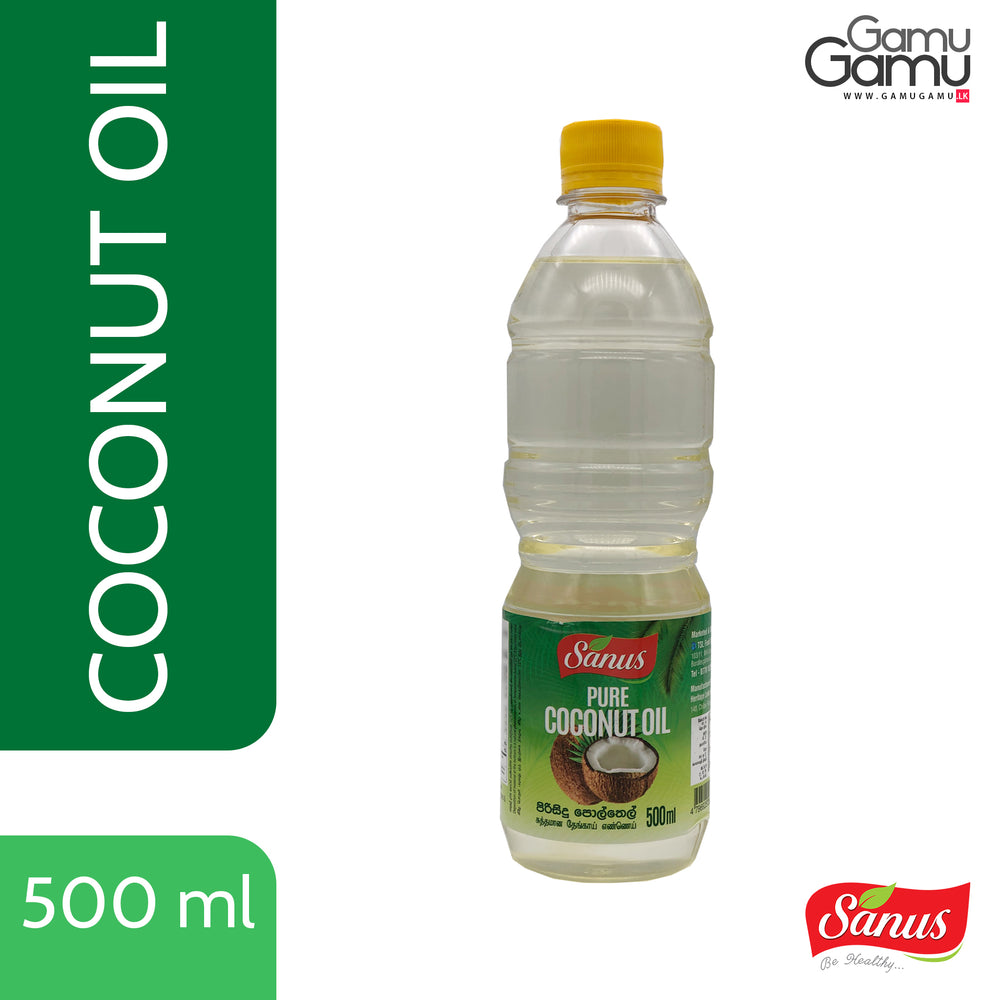 Sanus Pure Coconut Oil | 500 ml,Foods, Sanus - gamugamu.lk