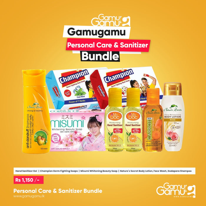 Personal Care & Sanitizer Pack,Essential Bundles, GamuGamu.lk - gamugamu.lk
