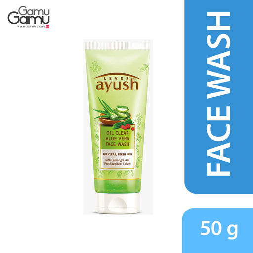 Ayush Oil Clear Aloe Vera Face Wash | 50 g,Personal Care, Unilever - gamugamu.lk