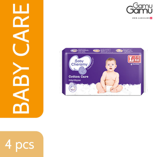 Baby Cheramy - Baby Diapers (Large) | 4 Diapers -GamuGamu.lk
