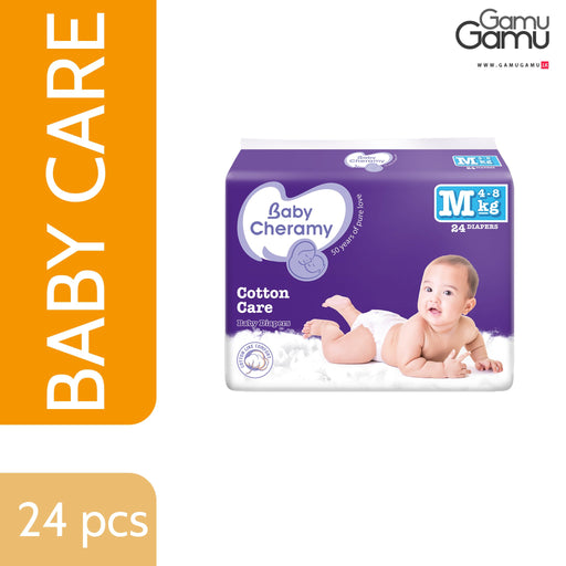 Baby Cheramy - Baby Diapers (Medium) | 24 Diapers -GamuGamu.lk