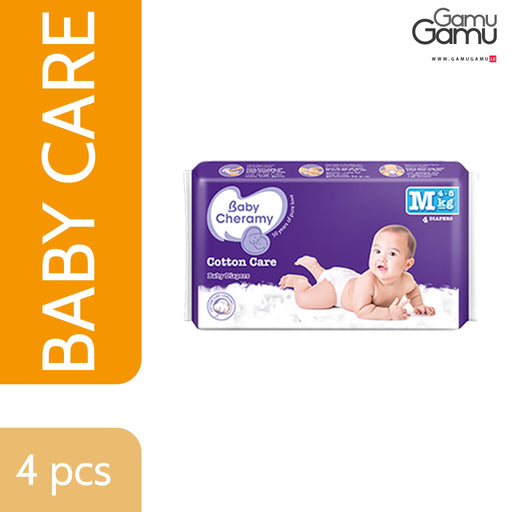 Baby Cheramy - Baby Diapers (Medium) | 4 Diapers -GamuGamu.lk