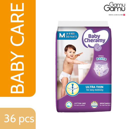 Baby Cheramy - Diaper Pants / Pull-Ups (Medium) | 36 Diapers-GamuGamu.lk