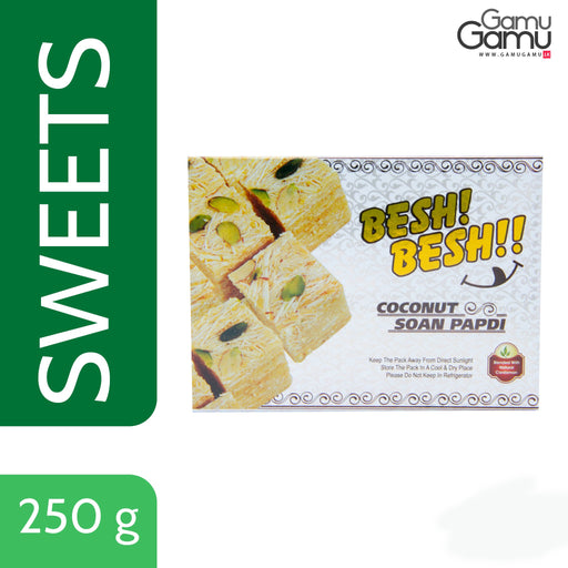 Coconut Soan Papdi (Indian Sweets) | 250 g-GamuGamu.lk