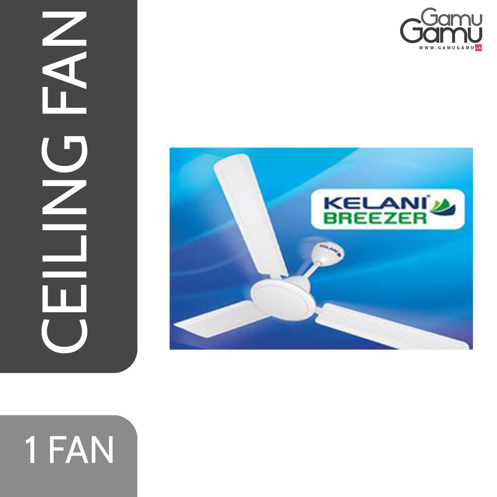 Kelani Breezer Ceiling Fan | White-GamuGamu.lk