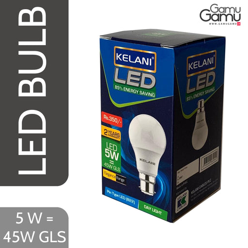 Kelani PIN Type LED Bulb (Day Light) | 5W = 45W GLS-GamuGamu.lk
