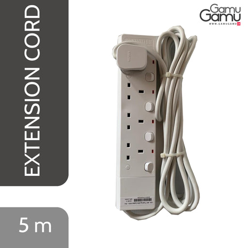 Kevilton 4-way Extension Cord (13 A) | 5 m -GamuGamu.lk