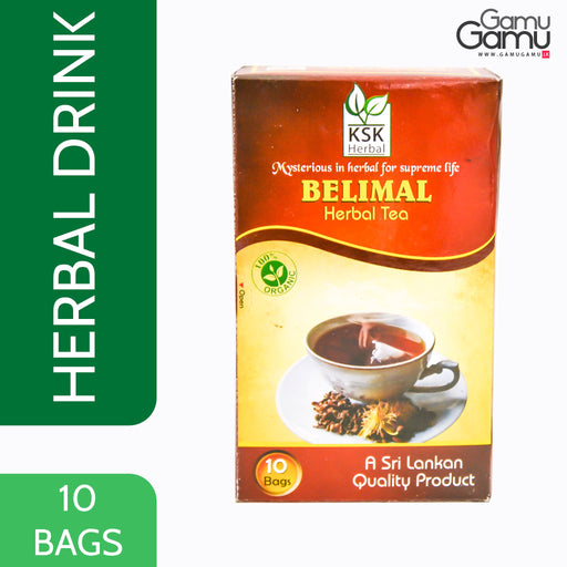 KSK Herbal Belimal Herbal Tea | 10 Bags,Foods - GamuGamu.lk