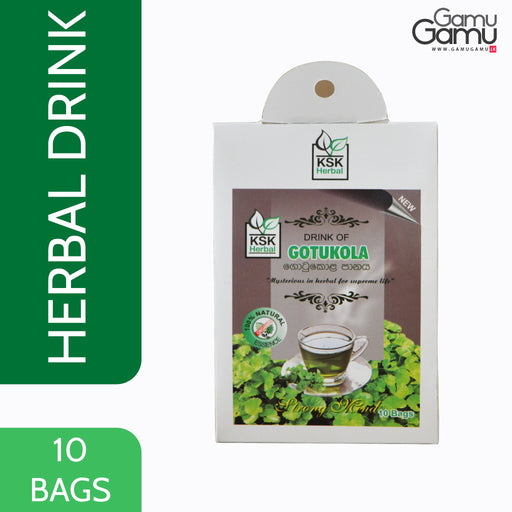 KSK Herbal Drink of Gotukola | 10 Bags,Foods - GamuGamu.lk