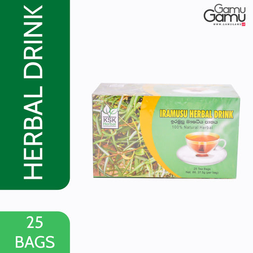 KSK Herbal Iramusu Herbal Drink | 25 Bags,Foods - GamuGamu.lk