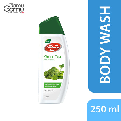 Lifebuoy Green Tea & Aloe Vera Body Wash | 250 ml,Personal Care, Unilever - gamugamu.lk